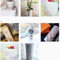 自分好みの花瓶が欲しい! ポーセラーツで作る花瓶。
