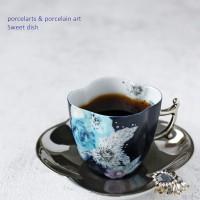 ポーセラーツのカップでコーヒーを楽しむブレイクタイム♪