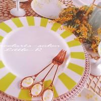 ポーセラーツの大皿で食卓を華やかに彩りましょう♪